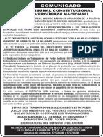 Tribunal Constitucional ¡Verguenza Nacional!