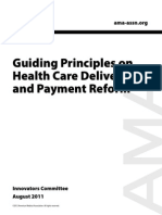 AMA - Guiding Principles of Delivery and Payment Reform (2011)