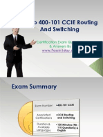 Cisco 400-101 CCIE Routing and Switching Exam Questions Answers Set Complete
