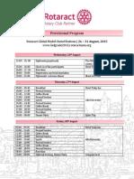 Rotaract Global MUN 2015 Belgrade Agenda