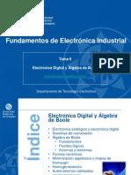 Tema 6 - Electrónica Digital y Álgebra de Boole