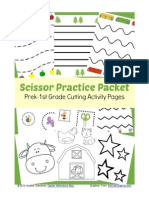 Scissor Practice Packet Prek 1st Grade Cutting Activity Printable(1)