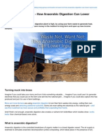 Waste Not Want Not - How Anaerobic Digestion Can Lower Input Costs