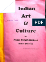 Indian Art & Culture - IAS 51 Rank ( Nitin Singhaniya) -1