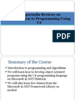 Synapseindia Reviews on Intrduction to Programming Using C#