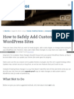 Www Skyverge Com Blog Add Custom Code to Wordpress