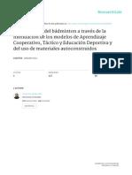 Aspectos Hibridos Enseñanza. Bádminton-javier Fernández-rio
