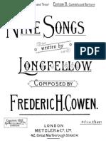 Cowen 9 Songs Written by Longfellow Altobaritone