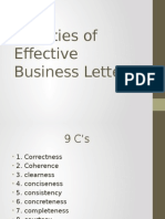Qualities of Effective Business Letters
