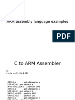 ARM Assembly Language Examples