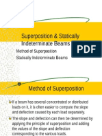 super position and statically determinate beam
