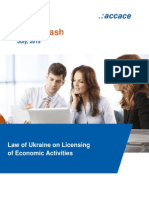 Law of Ukraine on Licensing of Economic Activities | News Flash