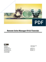 ANSYS Remote Solve Manager Tutorials