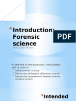 Introduction Forensic Science