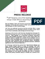 press release - Launch ya Family Kinga and Jikinge   products.docx