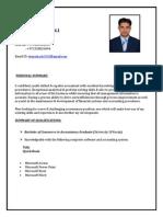 Accountant Shan's CV