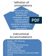definition of accommodations d and a spec 3