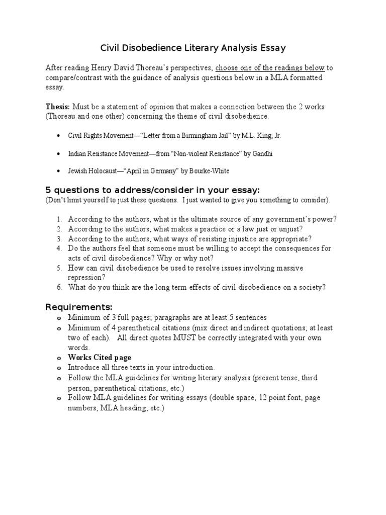 Civil disobedience essay doc civil disobedience civil