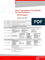 Indonesian Teachers' Association 2015 Conference Program