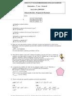 Ficha de revisãoResolução