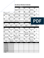 Insanity Workout Deluxe Calendar Simple