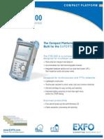 Exfo Ftb-200 Otdr Data Sheet