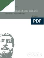 Intervista Visentin Su Neoparmenidismo Italiano_perazzoli11