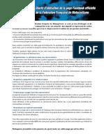 Charte Facebook FFM