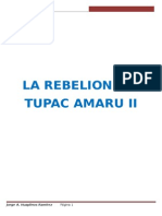 La Rebelion de Tupac Amaru II