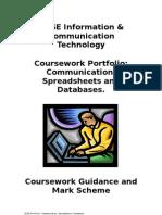 GCSE Information & Communication Technology Coursework Portfolio: