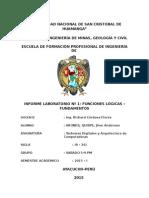Funciones logicas  Sistemas digitales y arquitectura de computadoras