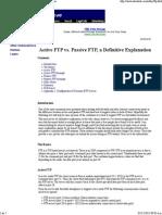 Active FTP vs Pasive FTP