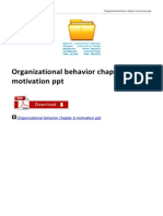 Organizational Behavior Chapter 6 Motivation Ppt