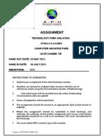 APU CARC Assignment Cover