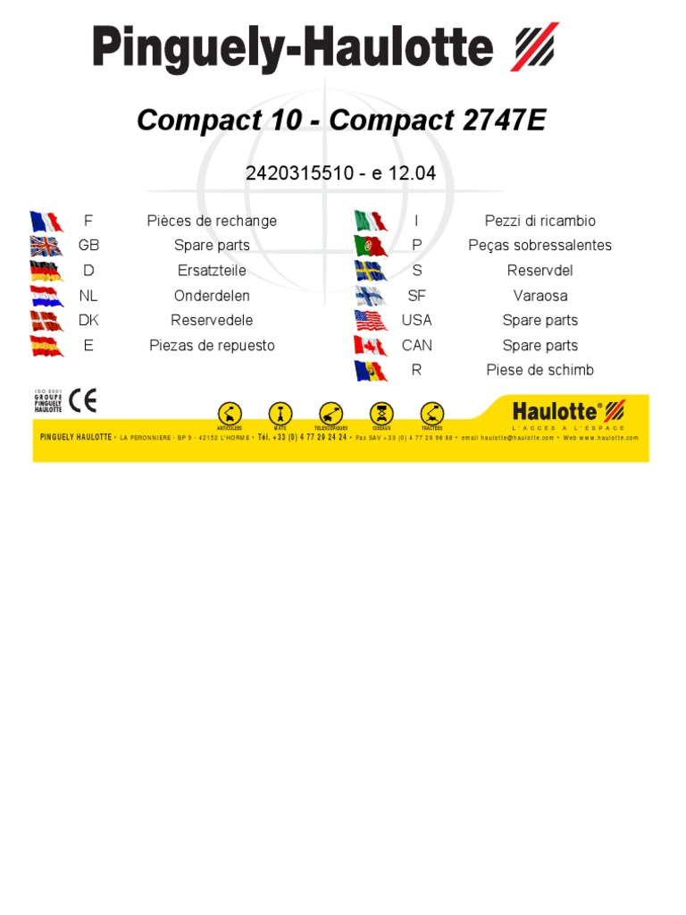 Schema Elettrico Hm : Haulotte compact 10