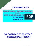 SOGCS, CALIDAD Y PHVA