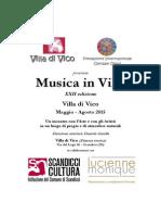 Musica a Villa Di Vico 2015