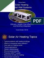 AIA SolarHeating Wall Sysyems