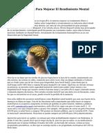 Trate Nootrópicos Para Mejorar El Rendimiento Mental