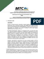 Metod,Doc.amb. y Soc.P.sect. MTC Peru