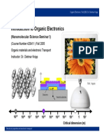 Organic Materials and Electronic Transport