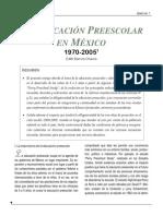 La Educacion Preescolar en Mexico - 1970-2005