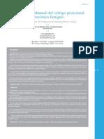 Tratamiento Manual Del Vértigo Posicional Paroxistico Benigno