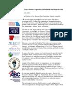 Missouri RTW Coalition Letter