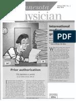 Senator Franzen Prior Authorization Article