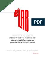 BLRBAC Emergency Shutdown Procedure (October 2012)