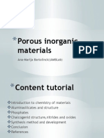 Porous Inorganic Materials-chemistry of materials (aluminosilicates, aluminophosphates)