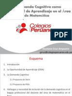 La Demanda Cognitiva Como Oportunidad de Aprendizaje en El Área de Matemática Vf
