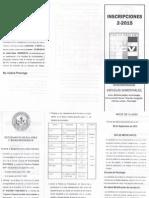 INSCRIPCIONES  2015-2