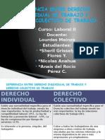 Diferencia Entre Derecho Individual de Trabajo y Derecho Colectivo de Trabajo